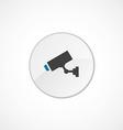 security camera icon 2 colored vector image