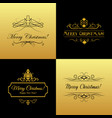 set of marry christmas and happy new year cards vector image