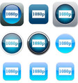 1080p blue app icons vector image vector image