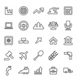 25 outline universal economy icons vector image vector image