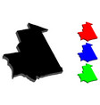 3d map of mauritania vector image vector image