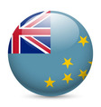 A badge in colours of tuvalu flag vector image vector image
