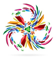Abstract colourful star for your vector image vector image