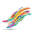 abstract flowing wave shapes vector image vector image