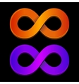 Abstract infinity orange and blue sign vector image