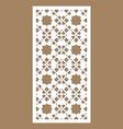 Arabesque panel laser cutting template