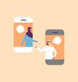 arabic couple chat bubbles mobile application vector image vector image