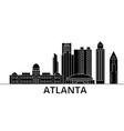 atlanta architecture city skyline travel vector image vector image