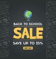 back to school sale sign vector image