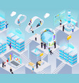 big data isometric composition vector image vector image