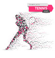 big tennis - dot sport template vector image vector image