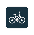 bike icon Rounded squares button vector image vector image