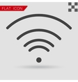 black Wi-Fi Icon Flat Style with red vector image