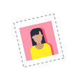 blogger profile photograph female woman vector image