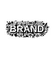 brand strategy concept banner simple style vector image