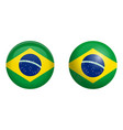 brazilian flag under 3d dome button and on glossy vector image vector image
