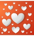 card of Valentines day with paper hearts vector image vector image