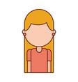 cartoon girl teacher professional character vector image