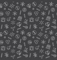 chemistry seamless pattern in thin line vector image