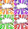 Clouds explosions vector image