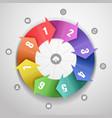 Color arrows design template vector image
