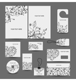 Corporate business style design folder labels vector image vector image