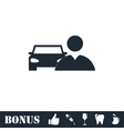 Driver icon flat vector image vector image