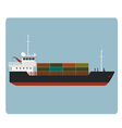 Dry cargo ship vector image