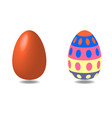 easter volume colored eggs isolated with shadows vector image
