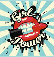 feminism slogan with street lettering girl power vector image vector image