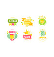 fiesta logo and labels original design set vector image vector image