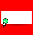 flat design business empty vector image vector image