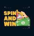 fortune wheel design vector image