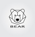 geometric head bear logo vector image vector image