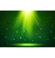 Green magic top light background vector image
