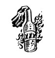 hand drawn black color old school tattoo on vector image vector image