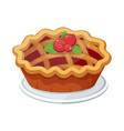homemade fruit and berry pie for christmas vector image vector image