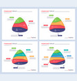 infographic templates in shape of vector image vector image