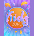 kids zone concept banner cartoon style vector image vector image