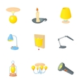 Light for home icons set cartoon style vector image vector image