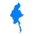 Map of Myanmar vector image vector image