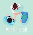 medical staff social media post mockup vector image