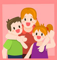 mother and children vector image