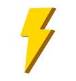 nice light thunder art design vector image vector image