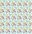 pattern 80s background vector image vector image