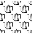 pattern with coffee kettle vector image