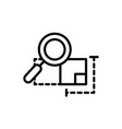 plan analysis magnifier architecture icon line vector image vector image