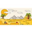 pyramid egypt destination travel typography vector image vector image