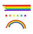 rainbow cartoon isolated on white colorful vector image
