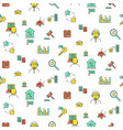 real estate icon seamless pattern vector image vector image